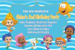 Personalised Bubble Guppies Invitations